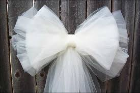 Tulle Bows - Tulle Wedding Decorations