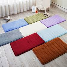 zeegle living room rectangle carpet bedroom floor rug anti slip bathroom rug fleece absorbency memory foam floor bath mat