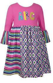 Bonnie Jean Toddler Girls Back To School Fall Abc Dress 2t 3t 4t New Ebay