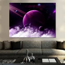 Canvas Pictures Living Room <b>Wall Art 1 Piece</b> Universe Space ...