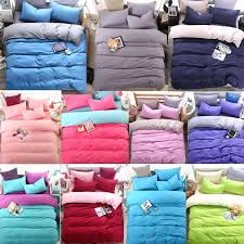 solid color twin comforter simple solid color twin full queen king size bed quilt duvet doona cover sham blue gray pink green purple red wine in bedding