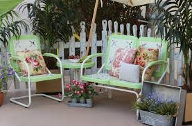 shabby chic patio furniture. image of shabby chic vintage metal patio furniture