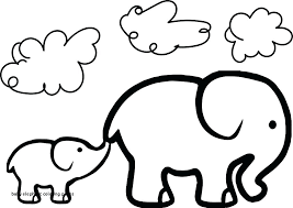 Elephant Coloring Page Baby Elephant Coloring Pages Adult Coloring