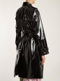diane von furstenberg double ted vinyl trench coat