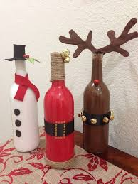 How To Decorate A Wine Bottle For Christmas Un reuso navideño para las botellas de vidrio DIY de navidad 3