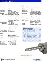 Rga Amu Chart Residual Gas Analyzers Pdf