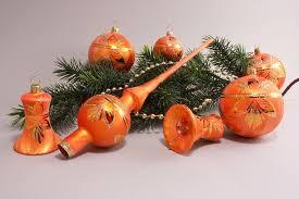 21 Teiliges Set Mit Baumspitze Eisorange Halbes Blatt Lauschaer Weihnachtskugeln Aus Glas