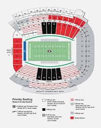 Sanford Stadium Seating Chart 2018 73 Correct Sanford Stadium Seating Map