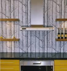 Silver Wallpaper Kitchen Designs