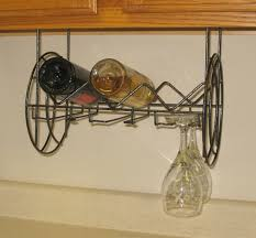 Under Cabinet Wine Racks Delightful Under Cabinet Wine Glass Rack Storage Under Cabinet