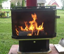 outdoor fireplace made from a reclaimed gas fireplace 7 steps with pictures