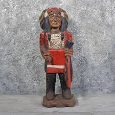 carved wooden indian 11622 for the taxidermy