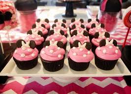 minnie mouse birthday party cupcakes 2
