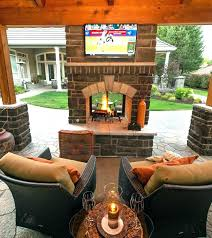 double sided outdoor fireplace gas two indoor outd