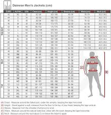 Dainese Motorcycle Jacket Size Chart Disrespect1st Com