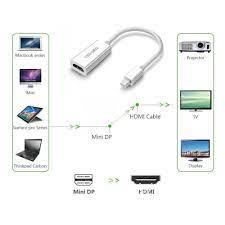 Cáp chuyển đổi Mini Displayport sang HDMI chất lượng 2K chính hãng -  Thunderbolt to HDMI Macbook - Dây cáp tín hiệu khác Nhãn hiệu No Brand