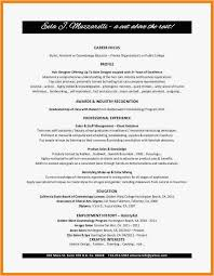 Resume For Cosmetology Templates Cosmetology Resume Format