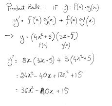 How Do You Use The Product Rule To Find The Derivative Y 4x 2 5 3x