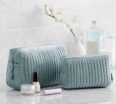 Quilted Velvet & Silk Cosmetic Bags, Set of 2 | Pottery Barn &  Adamdwight.com