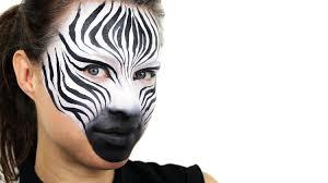zebra face paint tutorial