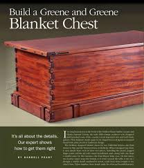 blanket chest plans