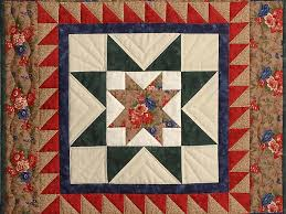 evening star Quilt -- splendid smartly made Amish Quilts from ... & ... Gold Red and Green Evening Star Wall Hanging Photo 2 ... Adamdwight.com