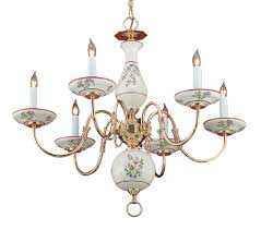 description the traditional italian hand painted ceramic rose fl chandelier