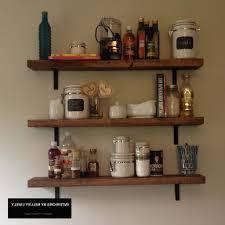 Kitchen Shelves Stunning Rustic Kitchen Shelves Images Decoration Ideas Andrea