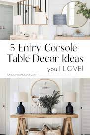 entry console table foyer table decor