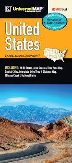 Interstate Mileage Chart Us Waterproof Fold Map Kappa Map Group 9780762591633