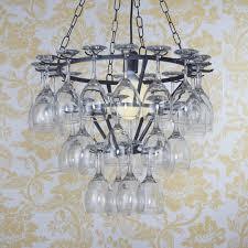 bespoke metal frame chandelier uk large view black wineglass