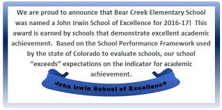 achievement awards for elementary students bear creek elementary school bces homepage
