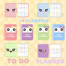 Kawaii Planner Clipart Cute Planner Time Printable Stickers To