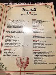 Italian Menu Impressive Online Menu Of The Hill Italian Restaurant Restaurant Springfield