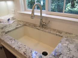 White Granite Kitchen Sink Sink Blanco Silgranit In Biscuit With Offset Drain Diamond Single