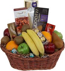 chocolates fruit basket