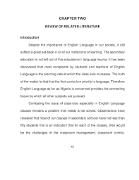 effect of class size on the teaching of english language 13 xiii chapter two review of related literature introduction despite the importance of english language