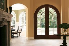 exterior door architectural entranceways arched springline glass panel style 113 custom grilles mahogany wood capri hardware french eclectic home