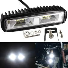 Motorbike Fog Lights Led Light Bar Driving Work Light 20w Pods Fog Lights Single Row For Cars Trucks Motorcycle Motorbike Off Road Jeep Atv Suv 4x4 Boat