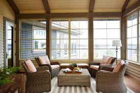 lake cabin furniture. In The Three-season Muskoka Room, Ipe Decking And Furniture Handwoven Wicker Make Lake Cabin T