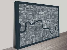 london word map wall artblue horizon prints inside trendy maps for wall art gallery 15