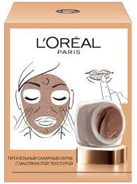 L'Oreal Paris Сахарный <b>скраб для лица</b>, питательный ...
