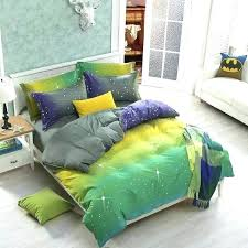 new bright colored green yellow purple omber bedding set full queen size novelty style bed linens green and yellow duvet covers