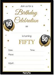 Amazon Com 50th Birthday Invitations With Envelopes 30 Count 50
