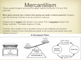 Mercantilism Chart Mercantilism The Triangular Trade Mercantilism