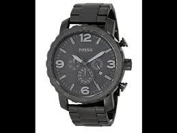 fossil men s jr1401 nate black stainless steel watch fossil men s jr1401 nate black stainless steel watch