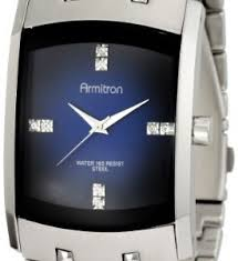 armitron watches for men collection carrywatches com armitron men s 204507dbsv stainless steel dress watch swarovski crystals