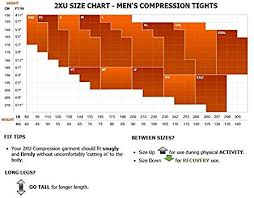 2xu Youth Compression Tights Size Chart Mens Elite Mcs Compression Tights G2