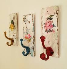 Cottage Coat Rack Decorative Wall Hooks Shabby Cottage Coat Rack Towel Rack Distressed 35