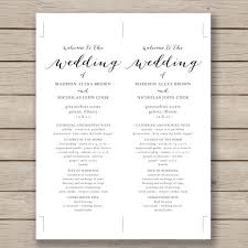 Bulletin Templates Word 67 Wedding Program Template Free Word Pdf Psd Documents